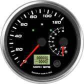 Dual Gauge - 120mph GPS Speedometer / 8K Tachometer (w/ turn signal and high beam)