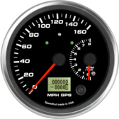 Dual Gauge - 160mph GPS Speedometer / 8K Tachometer (w/ turn signal and high beam)